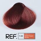 7.43 REF Colour - Златно медно русо - 100 ml